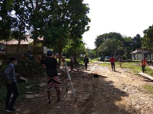 Mobilisasi  Pekerjaan Pembangunan Jembatan Sungai Pengga